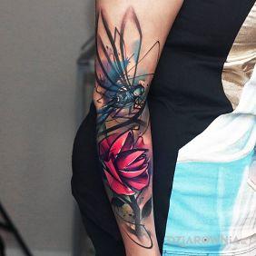 Ważka i kwiat
