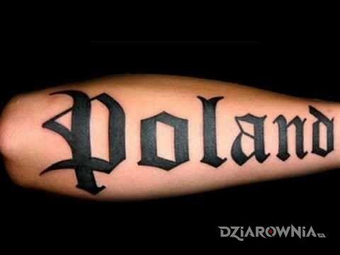 Tatuaż poland - napisy