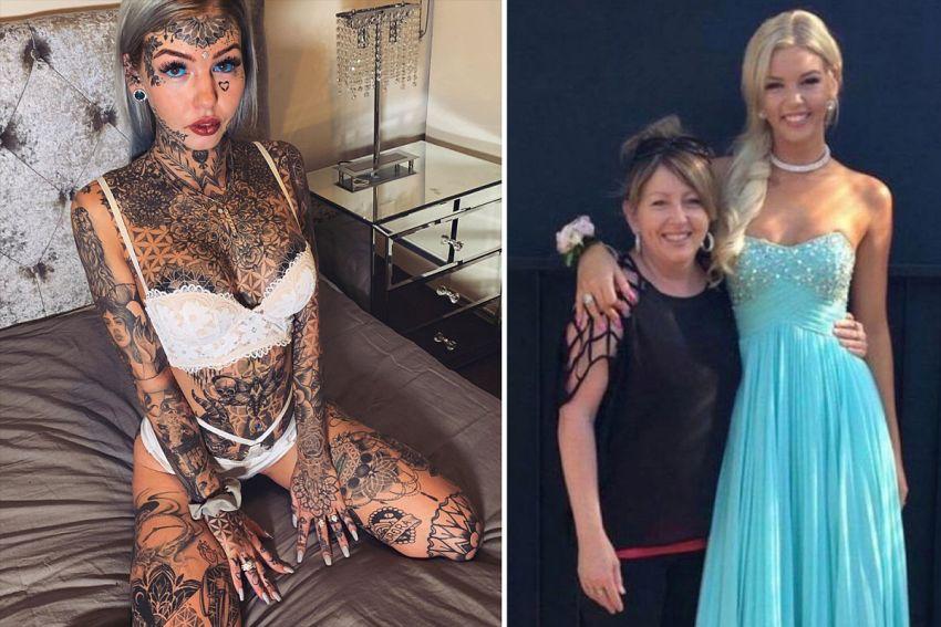 Amber Luke przemiana dziewczyny z tatuażami