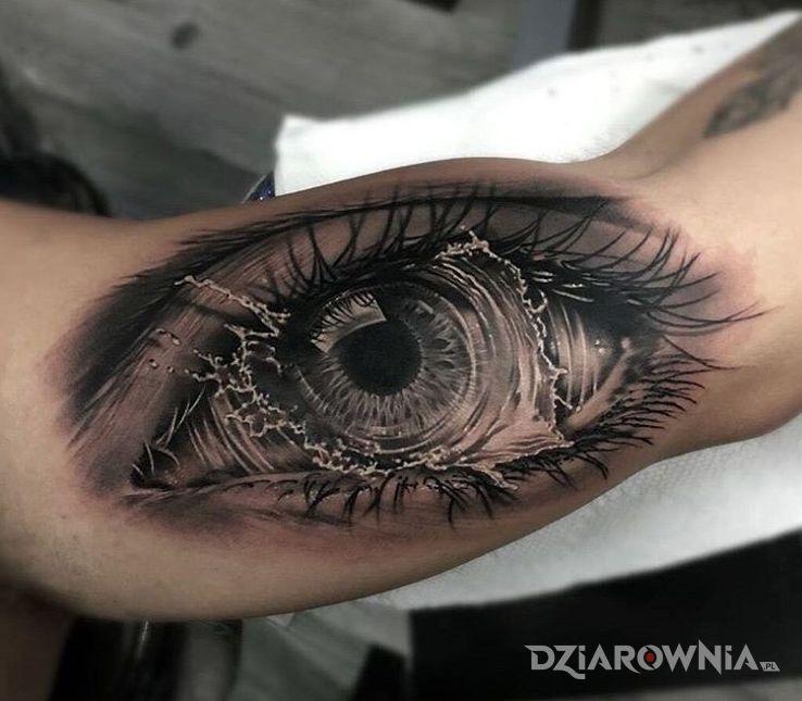 Tatuaż Płaczące Oko Autor Poldon Dziarowniapl