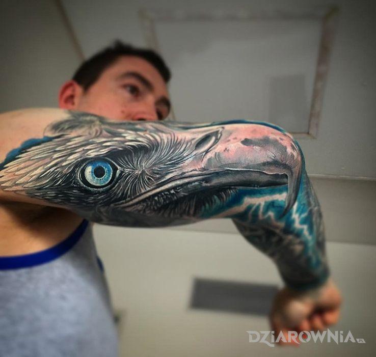 Tatuaż Orzeł Na Ręce Autor Gibonyou Dziarowniapl