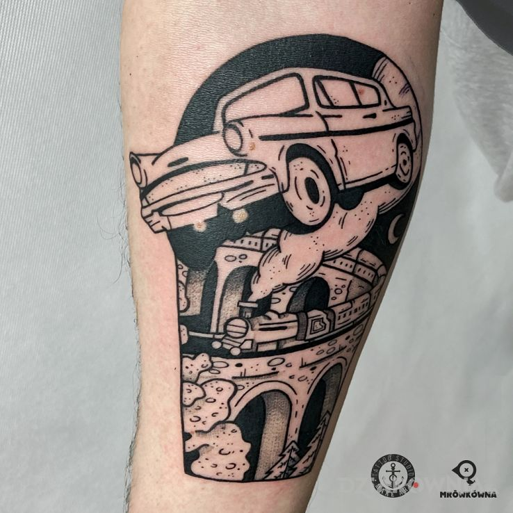 Tatuaż kadr - harry potter w motywie przedmioty i stylu graficzne / ilustracyjne na przedramieniu