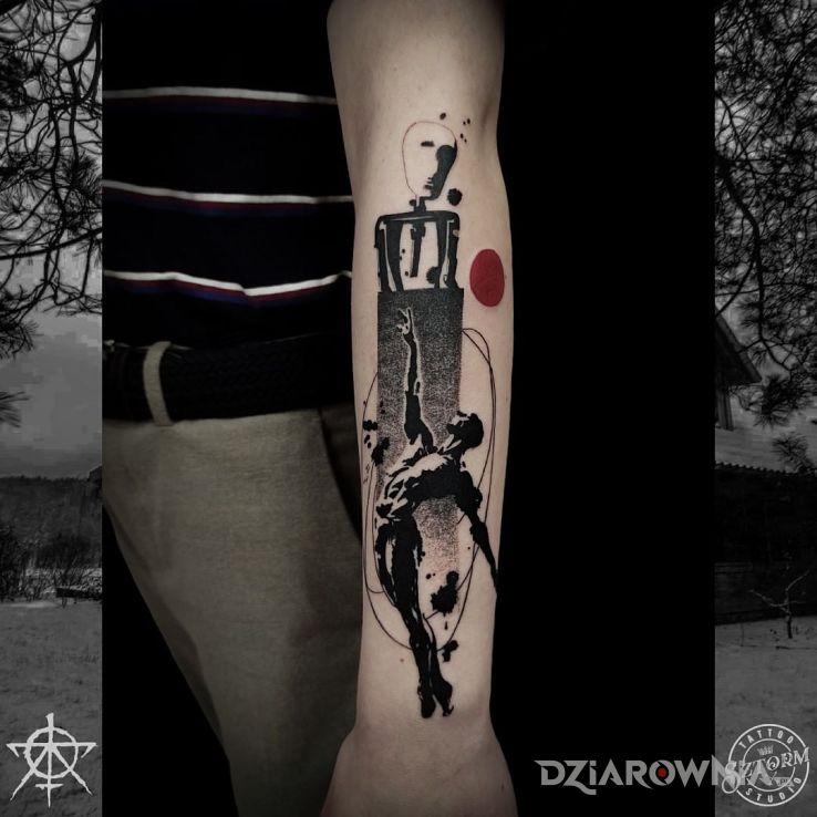 Tatuaż pierwszy tatuaż klienta w motywie pozostałe i stylu graficzne / ilustracyjne na ramieniu