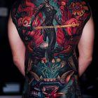 Japonska wojowniczka i demon