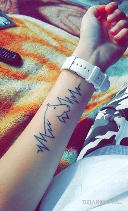 Tatuaż Koń Rytm Serca Autor Hurricanlantern Dziarowniapl