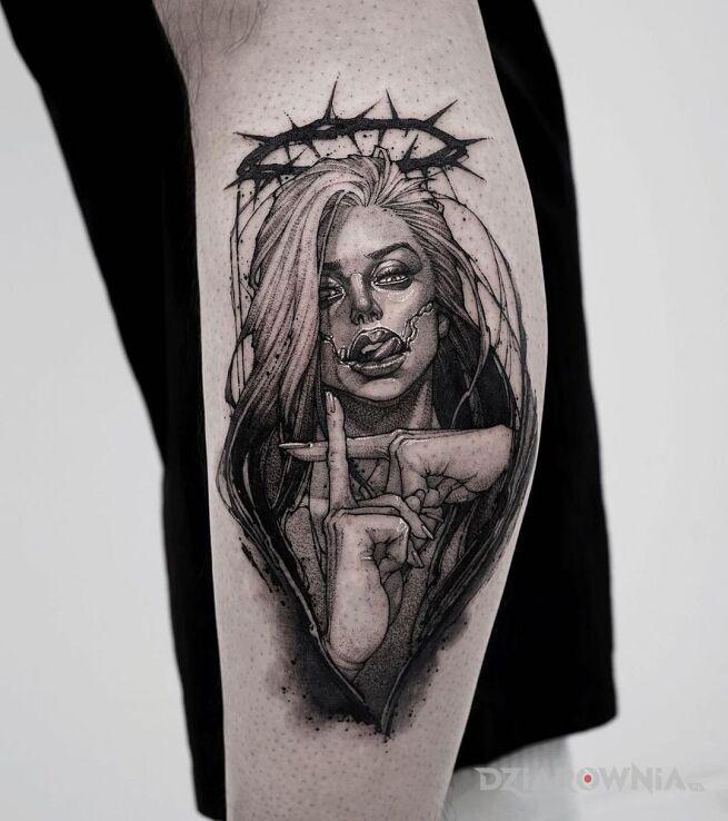 Tatuaż heretyczka w motywie twarze i stylu realistyczne na ręce