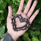 Serce z drutu kolczastego