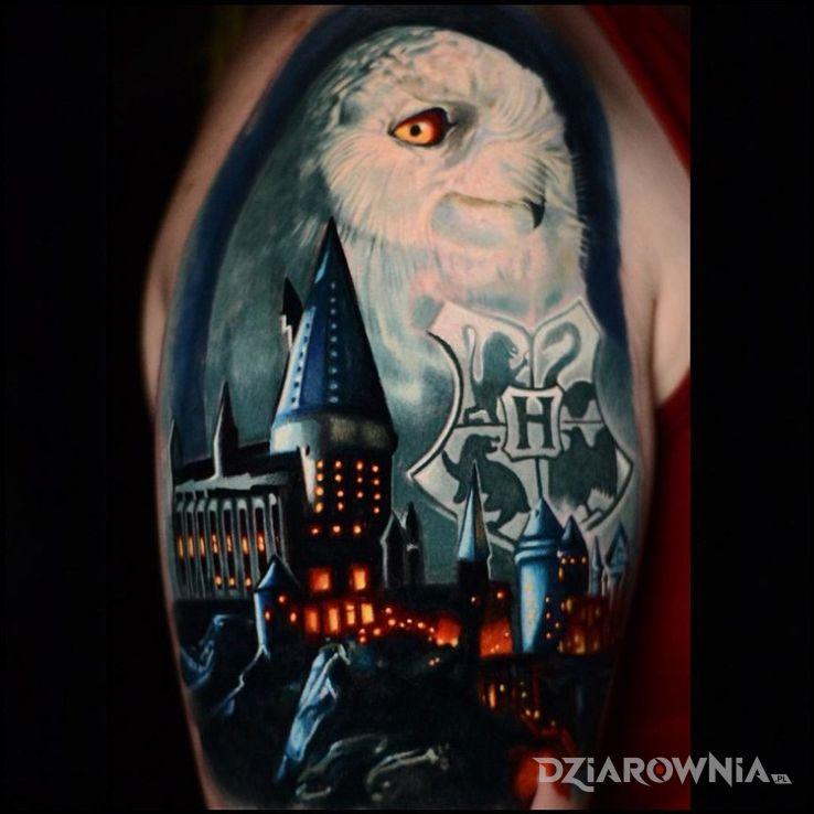 Tatuaż Harry Potter Autor Kondzio Dziarowniapl