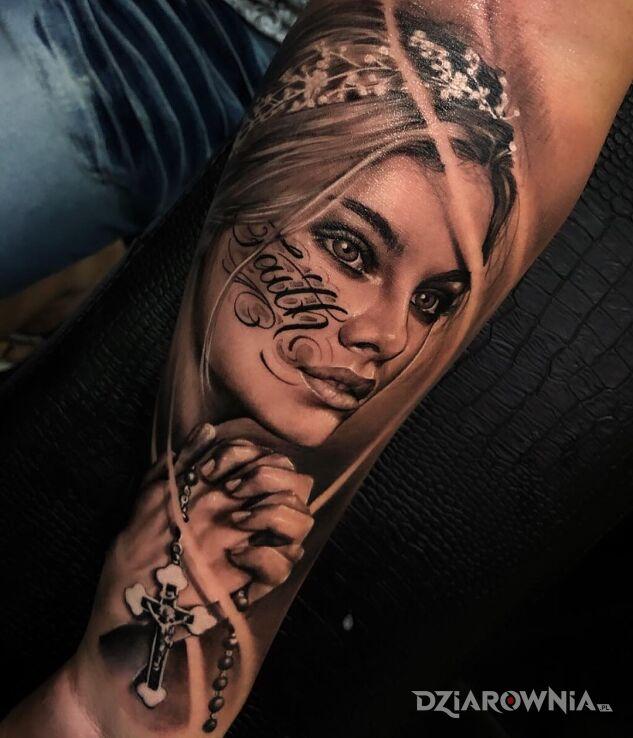 Tatuaż wiara w motywie 3D i stylu realistyczne na ręce