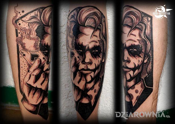 Tatuaz Joker Pierwsza Dziara Autor Pyskaty Dziarownia Pl