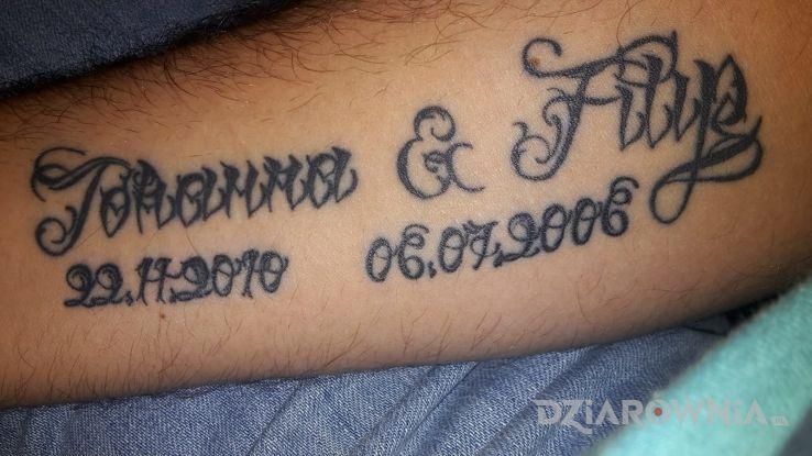 Tatuaż Lia Stryp Pismo Autor Wojciech Radtke Dziarowniapl