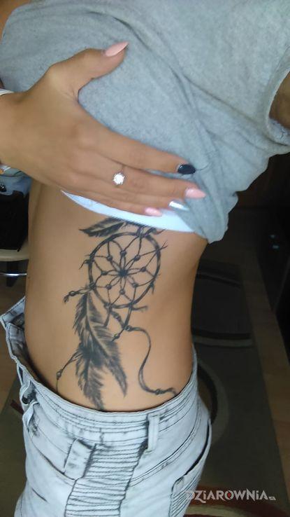 Tatuaż łapacz Snów Autor Monika Stojek Dziarowniapl