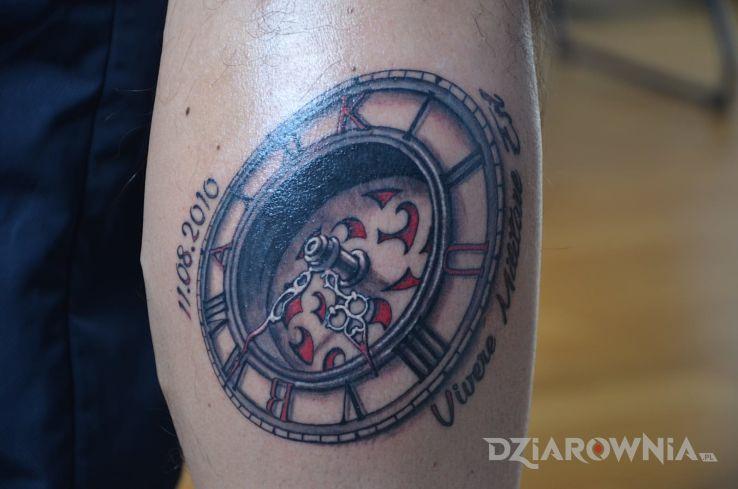 Tatuaż Zegar 3d Autor Jacky28 Dziarowniapl