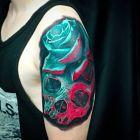 Róża i czaszka