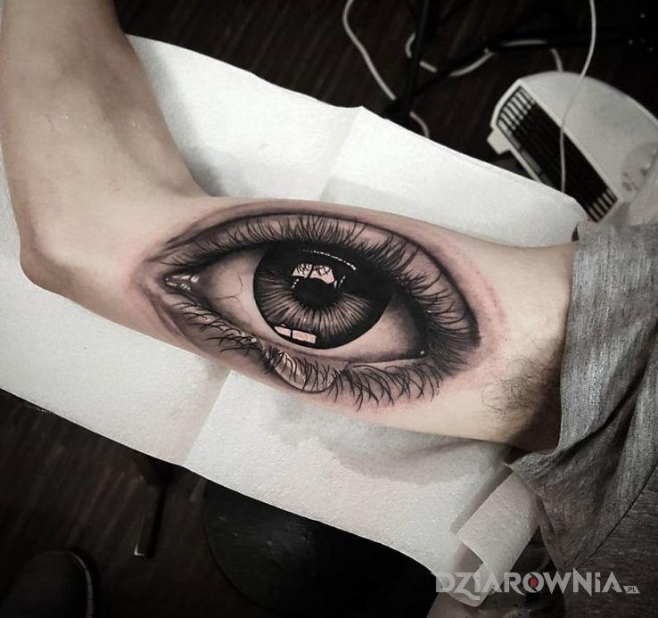 Tatuaż Realistyczne Oko Autor Kaszana2006 Dziarowniapl