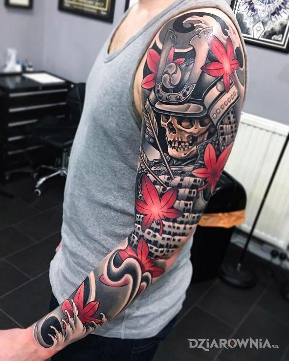 Tatuaż Samuraj Autor Nieznajomy Dziarowniapl