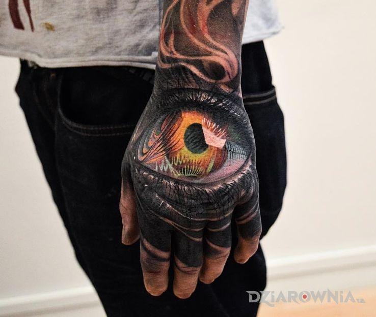 Tatuaż oczko - 3D