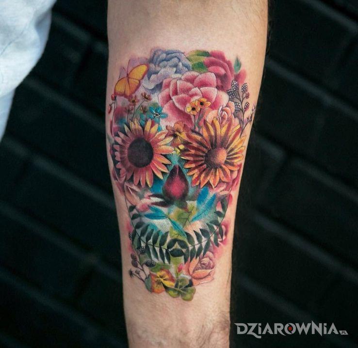 Tatuaż trochę inna czaszka - czaszki