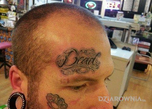 Tatuaż dead - napisy