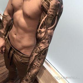 Tatuaże zwierzęta, rękaw ze zwierzętami, dziara dla mężczyzn