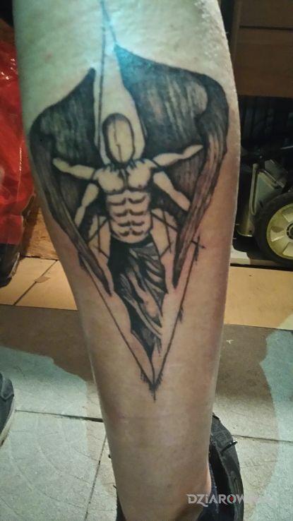 Tatuaż Upadły Anioł Autor Bartlej94 Dziarowniapl