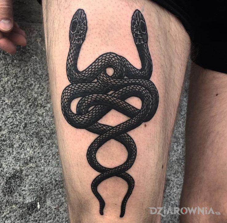 Tatuaż weze dwa - zwierzęta