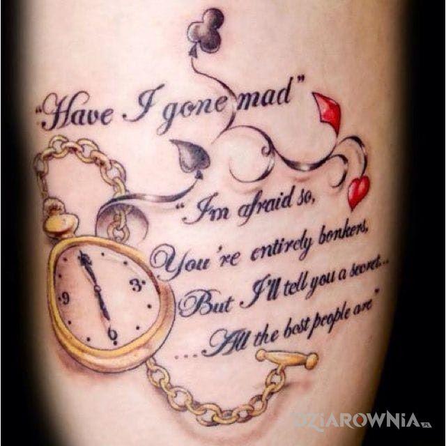 Tatuaż cytat - napisy