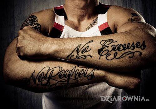 Tatuaż bez wymówek - napisy