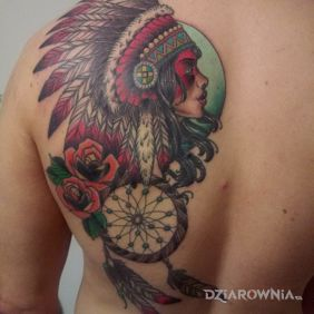 Native American Woman Dreamcatcher