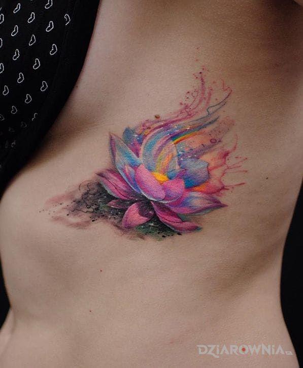 Tatuaż Kwiat Lotosu Autor Patka Dziarowniapl