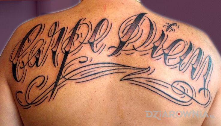 Tatuaż Carpe Diem Autor Kociambra Dziarowniapl