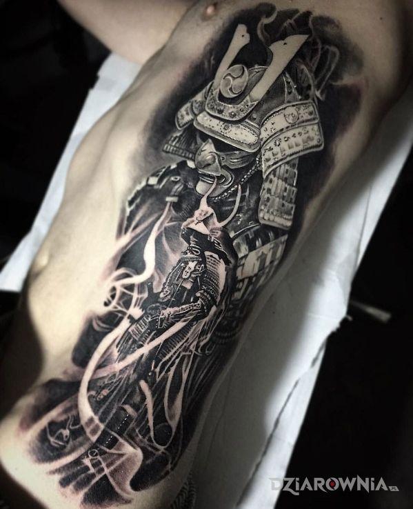 Tatuaż Samuraj Autor Aniulka Dziarowniapl