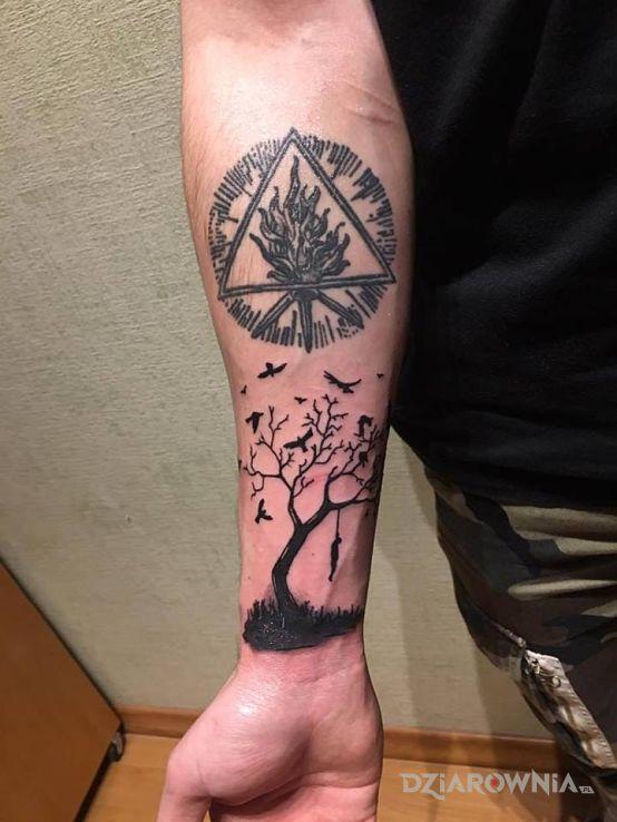Tatuaż Wisielec Autor Vargowy Dziarowniapl