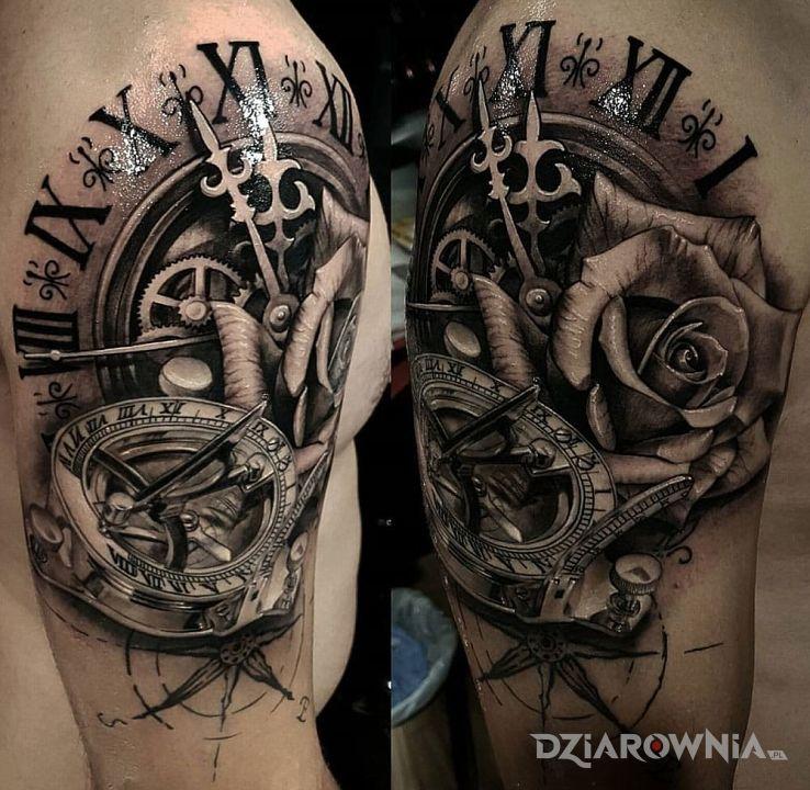 Tatuaż Kompas I Zegar Autor Wyca Dziarowniapl