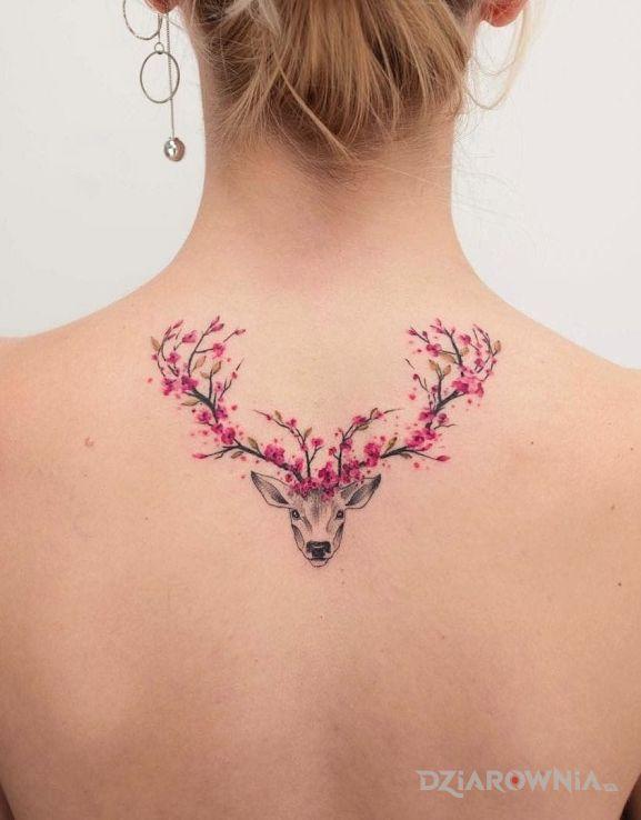 Tatuaż Jelen Autor Klemens Dziarowniapl