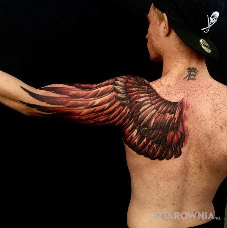 Tatuaż Skrzydło Sowy Autor Thorsal Dziarowniapl