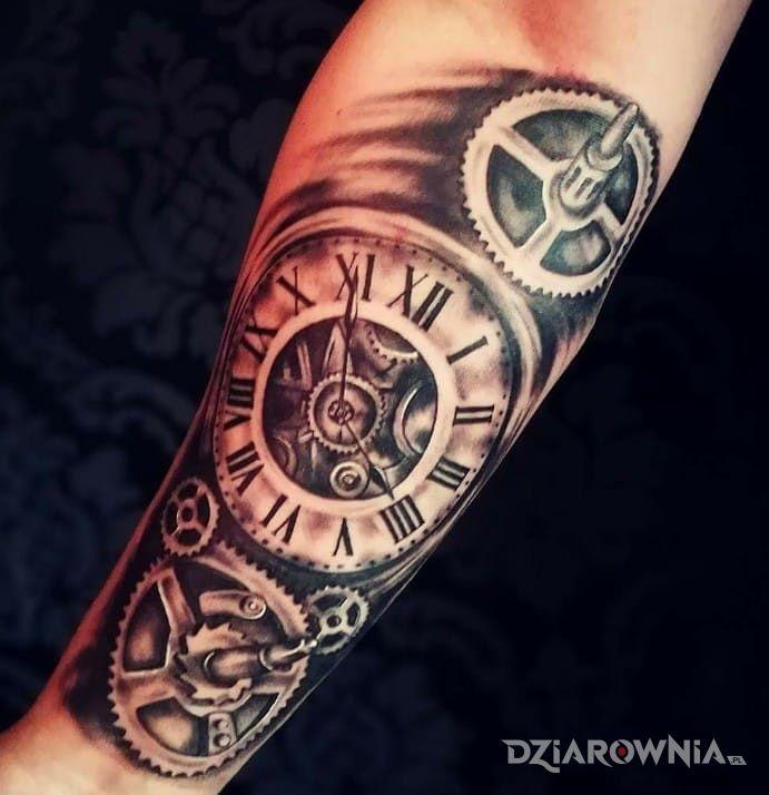 Tatuaż Zegar Autor Waski Dziarowniapl
