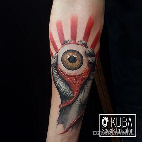 Tatuaże realistyczne, oko, dziara dla mężczyzn