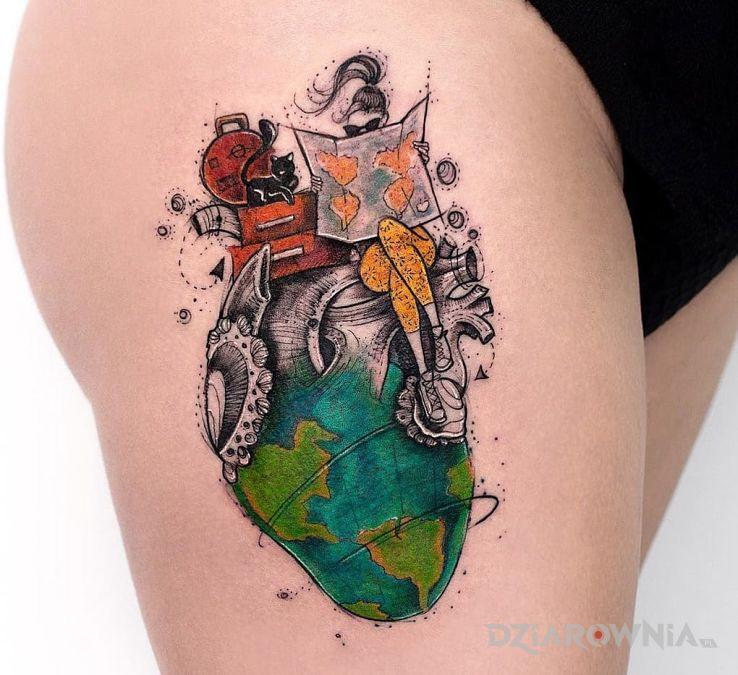 Tatuaż podróże - pozostałe