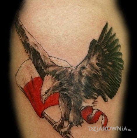 Tatuaż Flaga Polski Autor Kondzimir Dziarowniapl