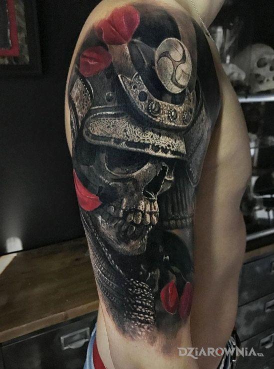 Tatuaż Samuraj Autor łukasz18 Dziarowniapl