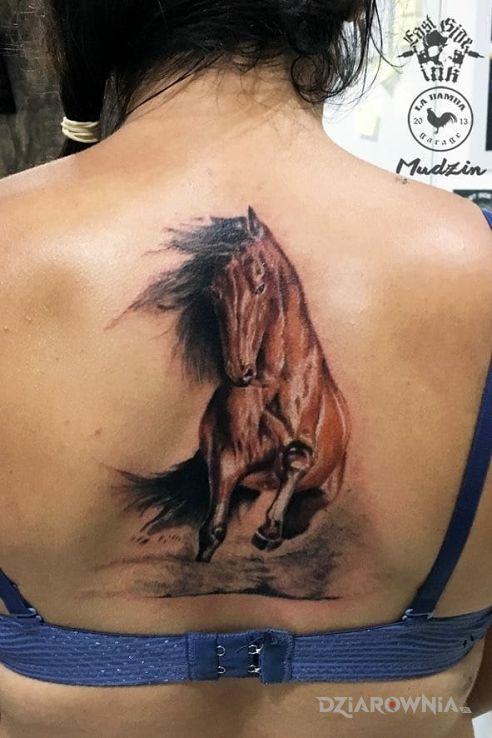 Tatuaż Koń Studio East Side Ink Sienkiewicza Dziarowniapl