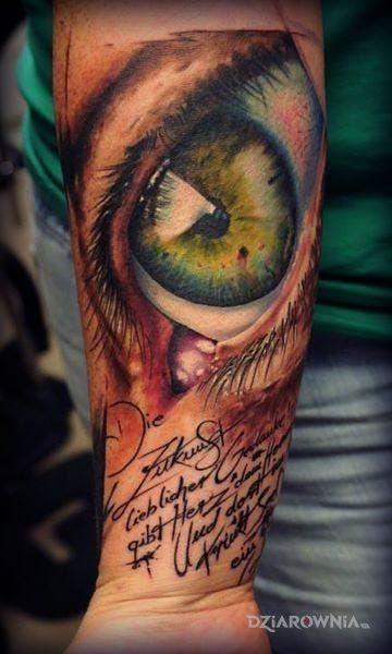 Tatuaż Zielone Oko Autor Jack Aligator Dziarowniapl