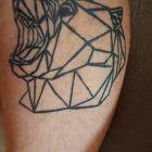 Tatuaż geometryczny Niedźwiedź