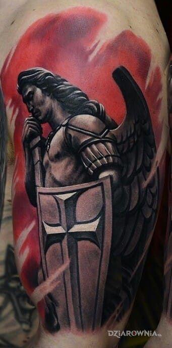 Tatuaż Archanioł Autor Manio Dziarowniapl