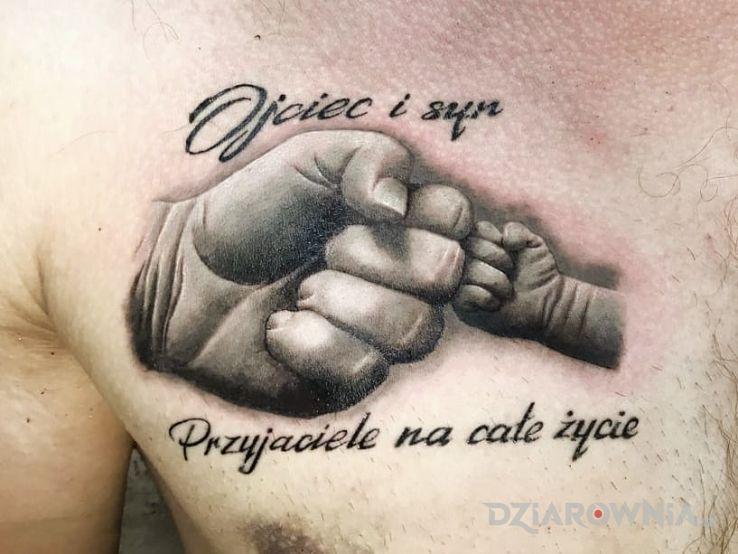 Tatuaż Ojciec I Syn Autor Bghtattoostudio Dziarowniapl