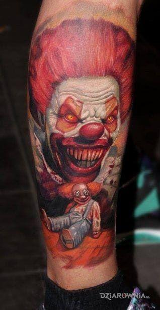 Tatuaż klaun - 3D