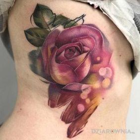 Rozmazana róża