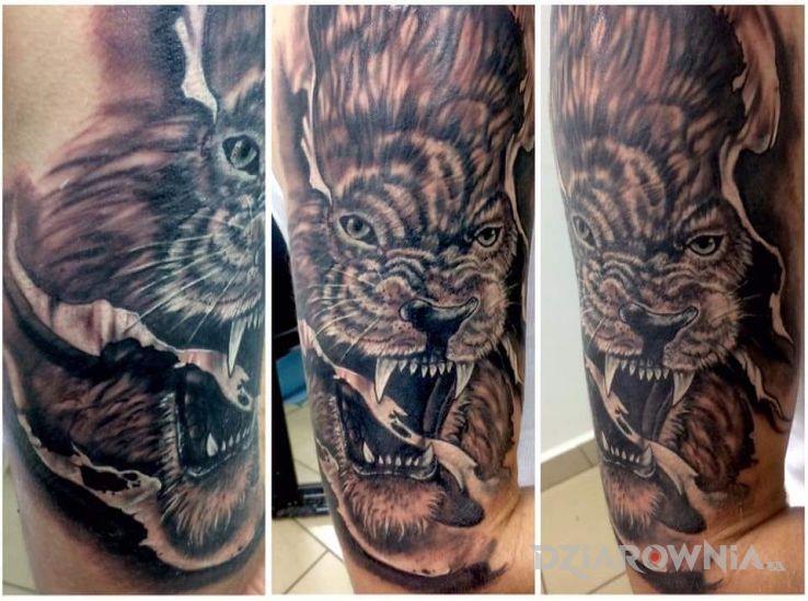 Tatuaż znak zodiaku lew  - zwierzęta