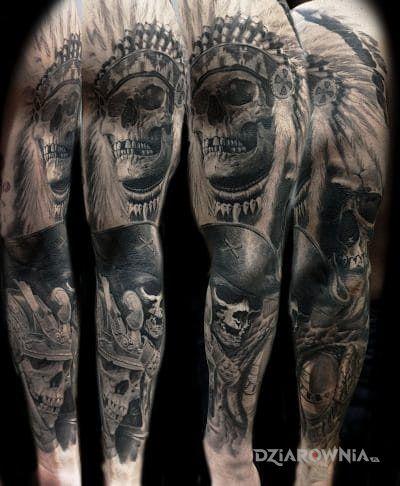 Tatuaż Indianin Pirat Samuraj Autor Warlock
